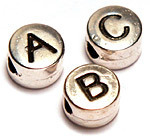 alphabet and number beads
