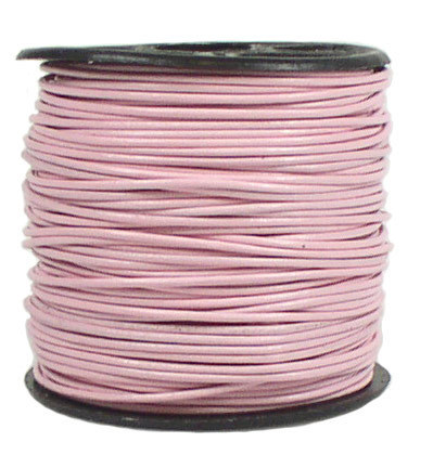 Lederband, 0,5 mm, rosa, 50 Meter