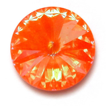 Swarovski Rivoli, ultra orange AB, 12 mm, 1 Stück