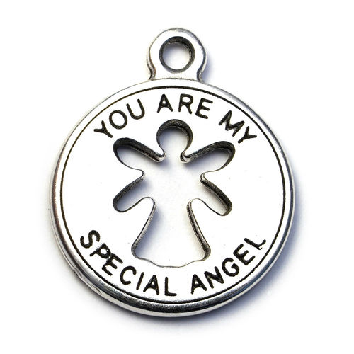 Medaillon mit Öse, 'you are my special angel', Stück